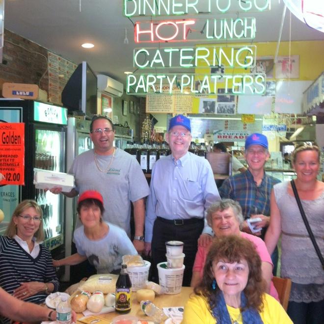 Several CGNE members at Lioni's.